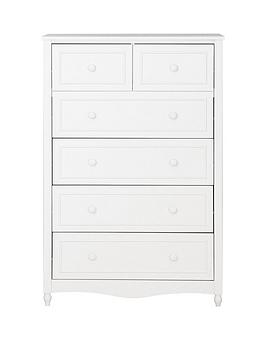 Kidspace Holly 4  2 Chest Of Drawers In White