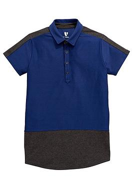 v-by-very-boys-textured-cut-and-sew-polo-shirt