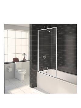 aqualux-aqua-3-fully-framed-bath-screen-white