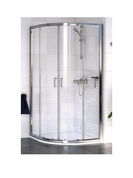 Aqualux Shine Quadrant Curved Shower Enclosure And Aqua 25 Sphere Shower Tray