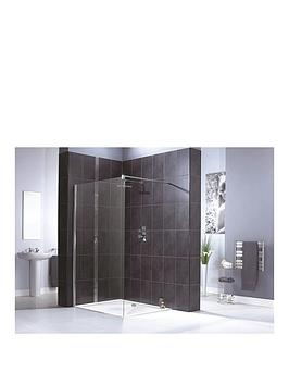 Aqualux Shine Shower Panel 1200Mm &Amp Aqua 25 Sphere Shower Tray 1200Mm X 900Mm