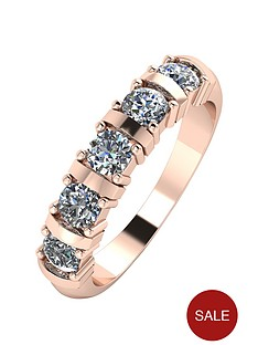 moissanite-9ct-rose-gold-1ct-moissanite-5-stone-eternity-ring