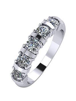 Moissanite Moissanite Platinum 1Ct Moissanite 5 Stone Eternity Ring Picture