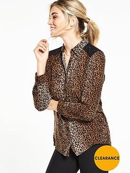 v-by-very-animal-print-lace-shirt