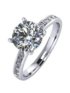 Moissanite Moissanite Platinum 2.3 Carat Solitaire Moissanite Ring With  ... Picture
