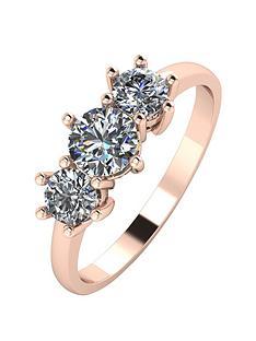 moissanite-9ct-gold-1-carat-trilogy-ring