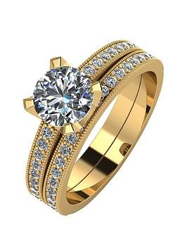 moissanite-9ct-gold-14-carat-two-piece-bridal-set