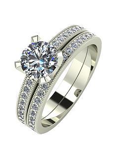 moissanite-9ct-gold-14-carat-two-piece-bridal-set