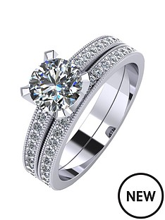 moissanite-platinum-14-carat-two-piece-bridal-set