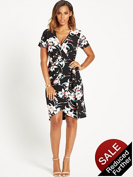 rochelle-humes-printed-wrap-front-dress