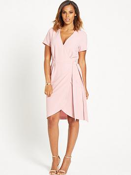rochelle-humes-wrap-front-dress-blush