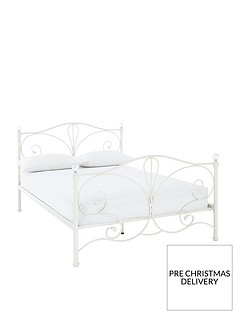 claremont-metal-bed-frame-with-mattress-options-buy-and-save