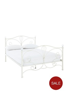 claremont-metal-double-bed-frame-with-optional-mattress