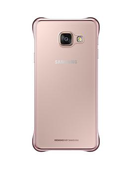 samsung-a3-clear-cover-pink-gold