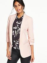 Longerline Ruched Blazer