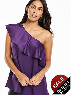 v-by-very-one-shoulder-satin-blouse