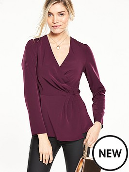 v-by-very-knot-wrap-top