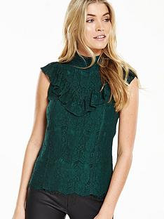 v-by-very-lace-high-neck-ruffle-top