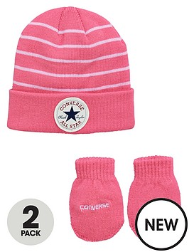 converse-baby-girls-stripe-hatmitts-set