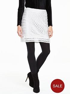 v-by-very-metallic-crochet-skirt