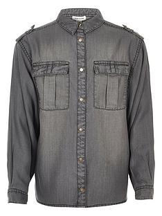 river-island-girls-grey-wash-oversized-shirt