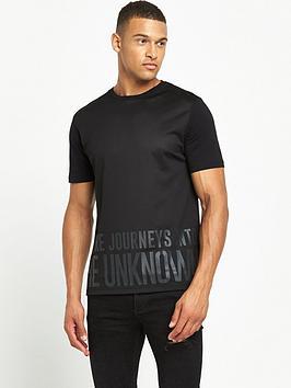 river-island-mesh-printed-short-sleeve-tshirt