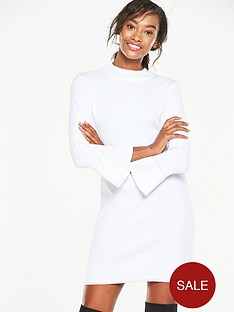 v-by-very-fluted-sleeve-dressnbsp
