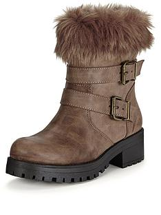 v-by-very-marninbspfaux-fur-cuff-casual-buckle-boot