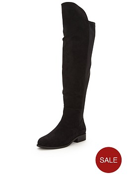 v-by-very-billie-thigh-high-imi-suede-flat-stretch-bootnbsp