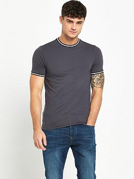 river-island-sporty-tip-muscle-fit-short-sleeve-t-shirtnbsp
