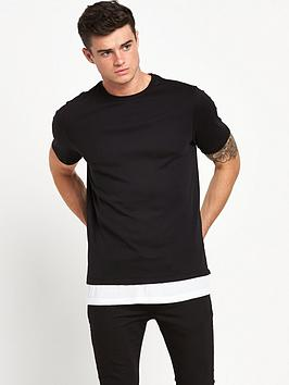 river-island-longline-double-layer-tshirt