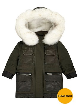 river-island-mini-girls-khaki-parka-with-faux-fur-trim