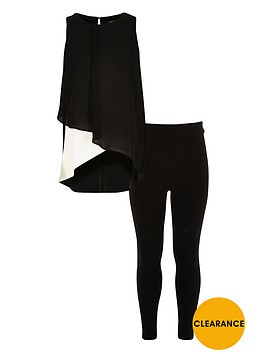river-island-girls-colour-block-top-and-leggings-set