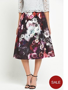oasis-winter-floral-midi-skirt