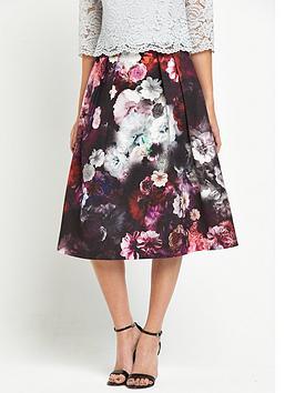 oasis-winter-floral-midi-skirt
