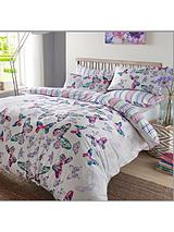 Watercolour Butterfly Duvet Set - Teal
