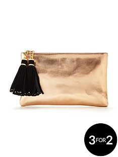 v-by-very-double-tassel-metallic-clutch