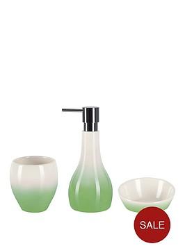 spirella-bali-gradient-3-piece-bathroom-set-ndash-green