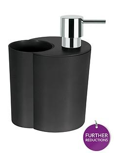spirella-sun-amp-moon-soap-dispenser-and-beaker-in-black