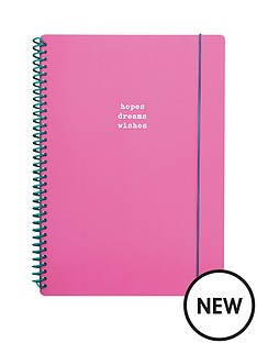 go-stationery-hopes-dreams-wishes-a4-notebook