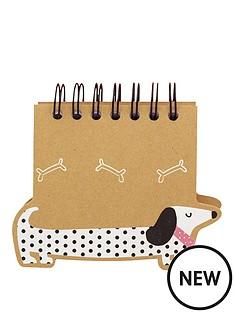 go-stationery-sausage-dog-a6-spiral-notebook
