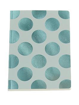 go-stationery-shimmer-aqua-polka-a5-amp-a6-notebooks
