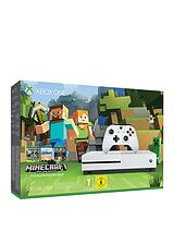 S 500Gb Console with Minecraft Favourites and Optional Extra Controller and/or 12 Months Xbox Live Gold