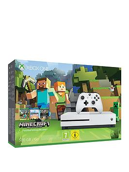 xbox-one-s-500gb-console-with-minecraft-favourites-and-optional-extra-controller-andor-12-months-xbox-live-gold