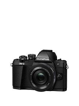 Olympus EM10 Mark Ii Compact System Camera With 1442 Mm F3.55.6 Ez Zoom Lens &Ndash Black
