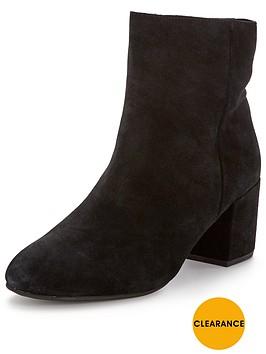 miss-selfridge-60snbspclean-suede-ankle-block-heel-bootnbsp