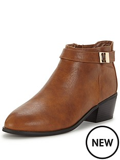 miss-selfridge-tan-casual-boot