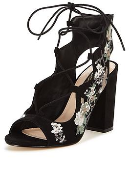 miss-selfridge-embroidered-tie-sandal