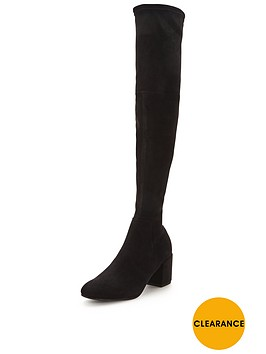 miss-selfridge-60snbspblock-heel-over-the-knee-bootnbsp