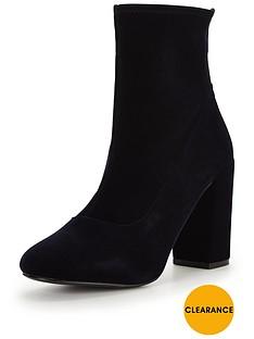miss-selfridge-velvet-sock-boot